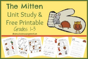 The Mitten Unit Study & FREE Printable