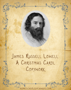 Free Copywork of Poem by James Russell Lowell