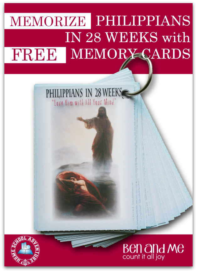 Printable Philippians Memory Cards