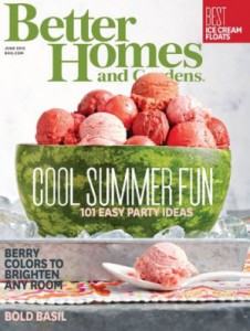 Complimentary Subscription to Better Homes and Gardens