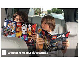 Free 2-Year Subscription to LEGO Club or LEGO Club Jr Magazines!