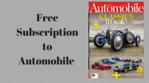 Free Subscription to Automobile
