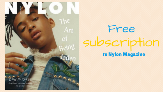 Free Subscription to Nylon Magazine