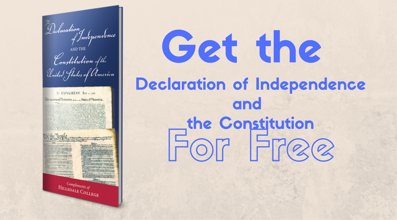 Get The Constitution &Declaration of Independence For FREE!