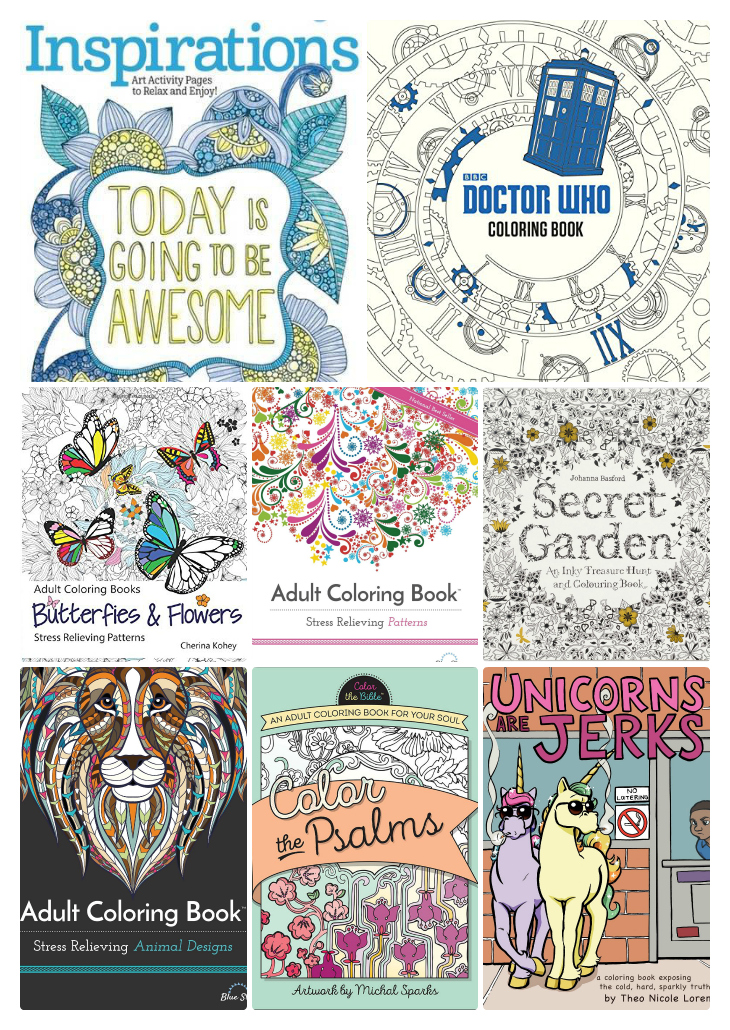 Huge List of Adult Coloring Books