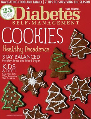 Complimentary 1 year subscription to Diabetes Self-Management.
