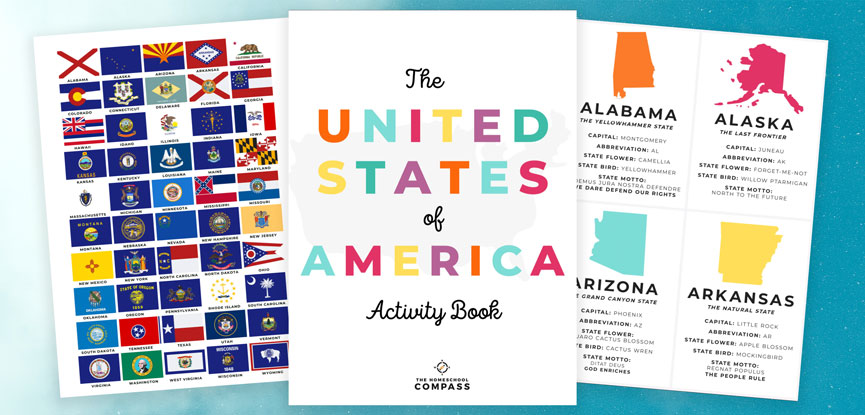 Free 50 states Printable Activity book
